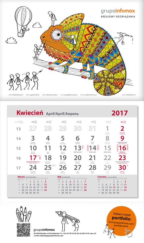 Nietypowy kalendarz antystresowy - kolorowanka