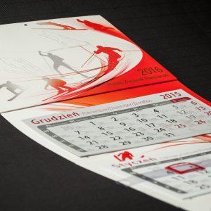 Kalendarze reklamowe, dzielne