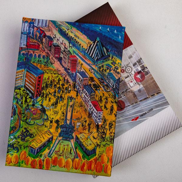 kalendarz książkowy w okładce z płótna setalux