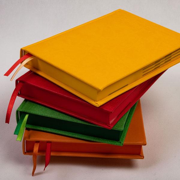 kalendarz książkowy barwione ranty blok
