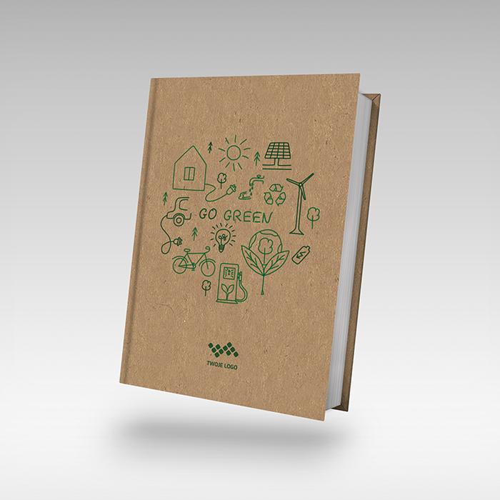 kalendarz ekologiczny papier Kraft z zadrukiem