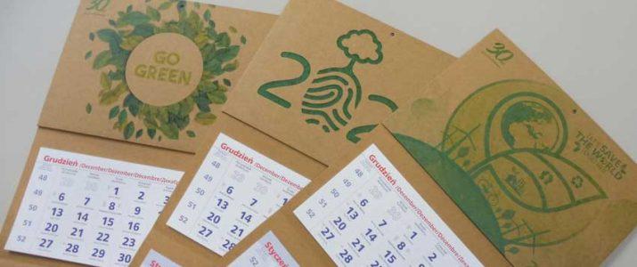 Kalendarze ekologiczne trójdzielne KRAFT